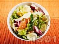 Зимна салата с краставица и грейпфрут